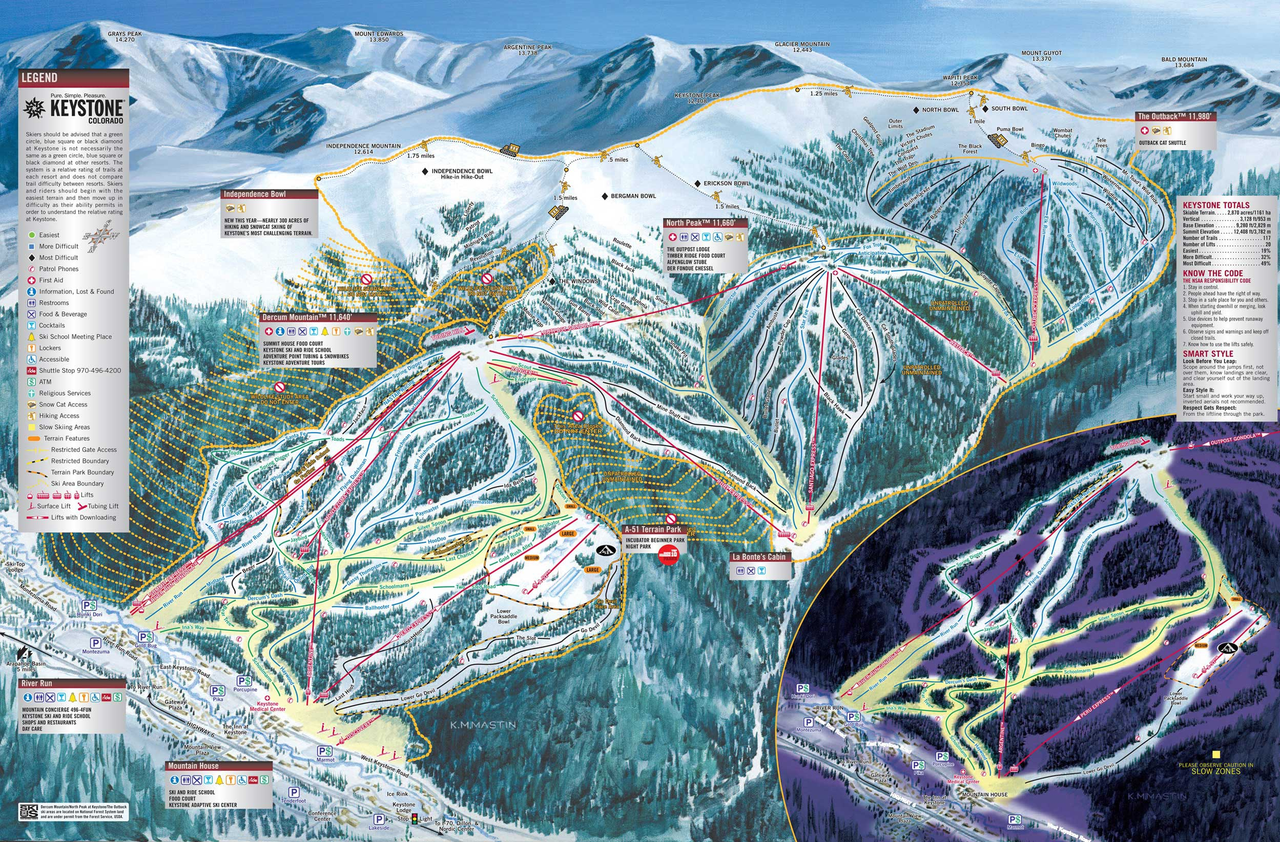 TrailMaps The Slope - Mammoth mountain trail map